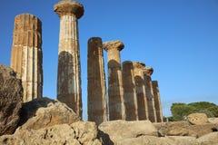 Templo de Juno en el valle de templos en Agrigento Fotografía de archivo