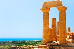 Templo de Juno no vale dos templos, Sicília fotografia de stock