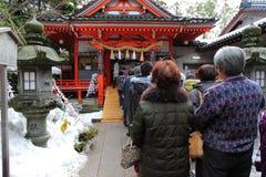 Templo de Kanazawa no inverno Fotografia de Stock