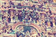 Templo de Kapaleeshwar, un complejo importante del templo hindú en Chennai, Tamil Nadu, la India imagen de archivo