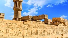 Templo de Karnak almacen de metraje de vídeo