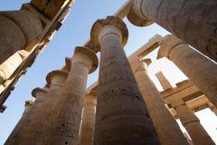 Templo de Karnak em Egpt fotografia de stock