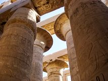 Templo de Karnak em Luxor foto de stock