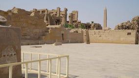 Templo de Karnak em Luxor, Egipto video estoque