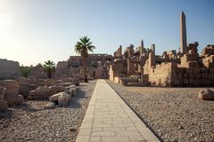 Templo de Karnak em Luxor, Egipto imagem de stock