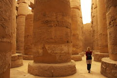 Templo de Karnak em Luxor, Egipto Imagem de Stock Royalty Free