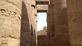 Templo de Karnak en Luxor, Egipto almacen de video