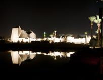 Templo de Karnak en Luxor en la noche Fotos de archivo libres de regalías
