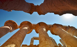Templo de Karnak La columna Egipto Fotos de archivo