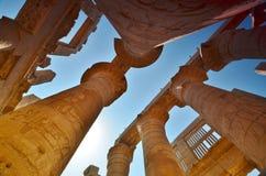 Templo de Karnak La columna Egipto Imagen de archivo libre de regalías