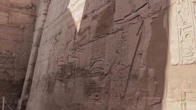 Templo de Karnak Thebes antigo Luxor, Egipto video estoque