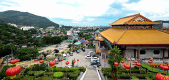 Templo de Kek Lok Si dentro no ar Itam, Penang Fotos de Stock Royalty Free