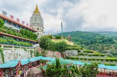 Templo de Kek Lok Si um templo budista situado no ar Itam em Penang Imagem de Stock