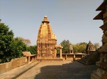 Templo de Khajuraho Fotografía de archivo
