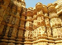 Templo de Khajuraho Imagenes de archivo