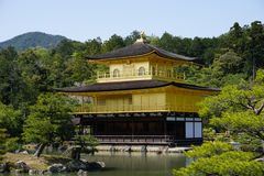 Templo de Kinkakuji Fotografia de Stock Royalty Free