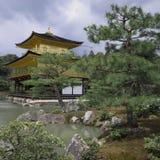 Templo de Kinkakuji do pavilhão dourado Fotos de Stock Royalty Free