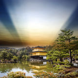Templo de Kinkakuji en Kyoto, Japón Imagenes de archivo
