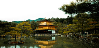 Templo de Kinkakuji, Kyoto Japão Imagem de Stock Royalty Free