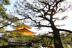 Templo de Kinkakuji (o pavilhão dourado) Foto de Stock