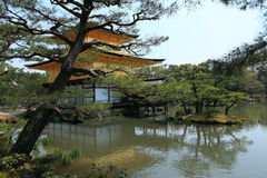 Templo de Kinkakuji ou Pavillion dourado em Kyoto Imagem de Stock Royalty Free