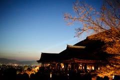 Templo de Kiyomizu Fotografía de archivo