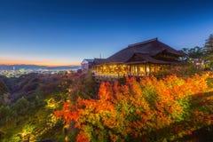 Templo de Kiyomizu-dera Imágenes de archivo libres de regalías
