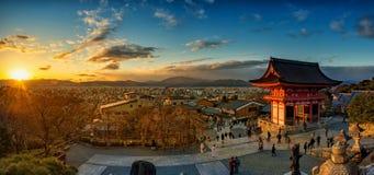 Templo de Kiyomizu-dera em Kyoto, Japão Fotografia de Stock Royalty Free