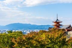 Templo de Kiyomizu-dera em Kyoto, Japão Fotografia de Stock