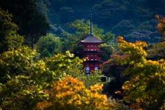 Templo de Kiyomizu-dera em Kyoto, Japão Fotos de Stock Royalty Free