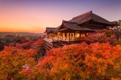 Templo de Kiyomizu-dera en Japón foto de archivo