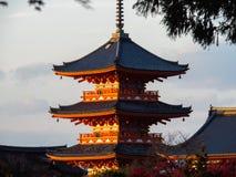 Templo de Kiyomizu-dera en Kyoto, Japón Imagen de archivo