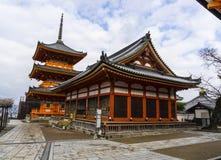 Templo de Kiyomizu Dera en Kyoto, Japón Imagenes de archivo
