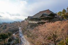 Templo de Kiyomizu-dera na luz do dia Foto de Stock