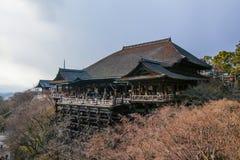 Templo de Kiyomizu-dera na luz do dia Foto de Stock Royalty Free