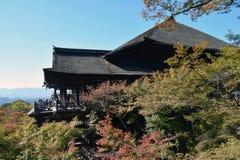 Templo de Kiyomizu, Kyoto Imágenes de archivo libres de regalías