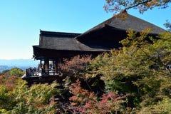 Templo de Kiyomizu, Kyoto Fotos de archivo libres de regalías