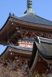 Templo de Kiyomizu, Kyoto, Japão Fotos de Stock