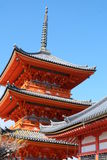 Templo de Kiyomizudera Foto de archivo libre de regalías