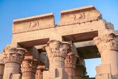 Templo de Kom Ombo, Egipto Fotografía de archivo