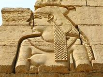 Templo de Kom Ombo, Egito: deusa Hathor fotografia de stock royalty free