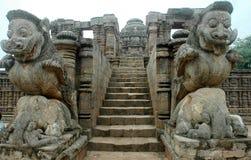 Templo de Konark de Orissa-India. Foto de Stock