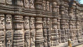 Templo de Konark Sun - beleza arquitetónica da Índia fotografia de stock royalty free