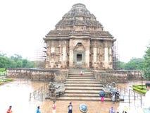 Templo de Konark de vista completa imagem de stock