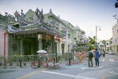 Templo de Kongsi del ladrido, un templo chino, que está situado en calle armenia, George Town, Penang, Malasia Imagen de archivo