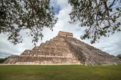 Templo de Kukulcan em Chichen Itza, Iucatão, México Fotos de Stock