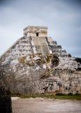 Templo de Kukulcan en Chichen Itza, México Imágenes de archivo libres de regalías