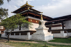Templo de Kyichu Lhakhang, Paro, Bhután Imagen de archivo libre de regalías