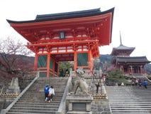 Templo de Kyomizu imagen de archivo libre de regalías