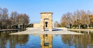 Templo de la arquitectura antic egipcia de Debod en Madrid, España fotografía de archivo